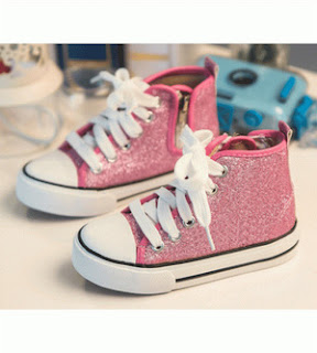 Glittery Sneaker Boots - Pink