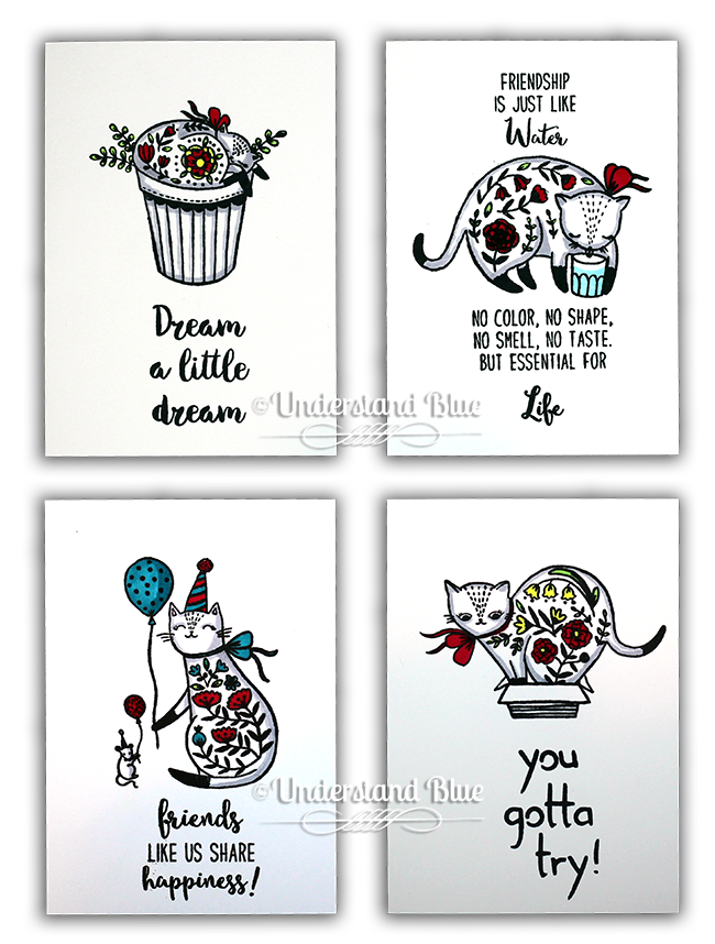 Flora Cat Notecards by Understand Blue