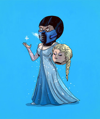 Elsa de Frozen totalmente desenmascarada.
