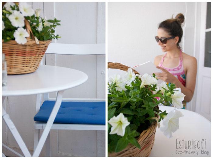 Reutilizar muebles viejos, hacer una maceta con algún objeto que no utilices, llénala de plantas aromáticas y crea un pequeño huerto.