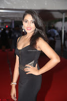 Madhu Shalini in a Glamorous Deep neck Black Sleeveless Dress at Mirchi Music Awards South 2017 ~  Exclusive Celebrities Galleries 023.JPG