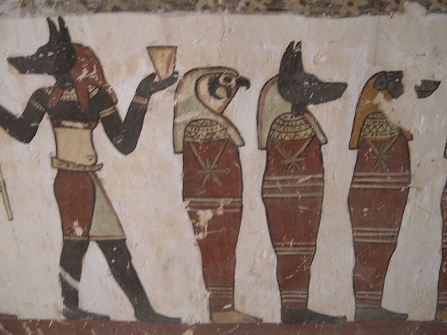 Paintings from the tomb of Petosiris at Muzawaka (XXIX)