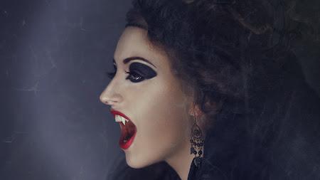 Witch. Vampire. Girl Halloween Costumes UHD