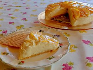 peach-cheesecake, cheesecake-de-melocoton-y-dulce-de-leche