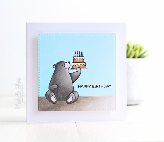 Birdie Brown Birthday Bears stamp set - Michelle Short #mftstamps
