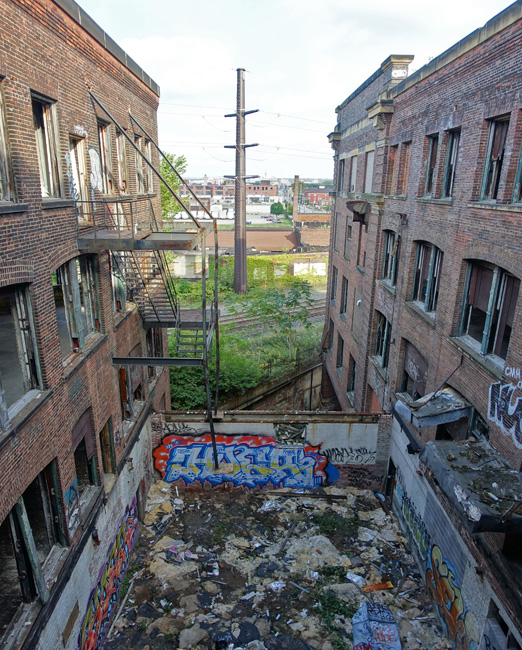 Abandoned Warner & Swasey Company factory in Cleveland Ohio