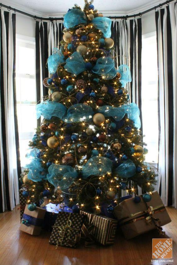 Aprende c mo decorar 7 rboles navide os con mallas - Cinta arbol navidad ...