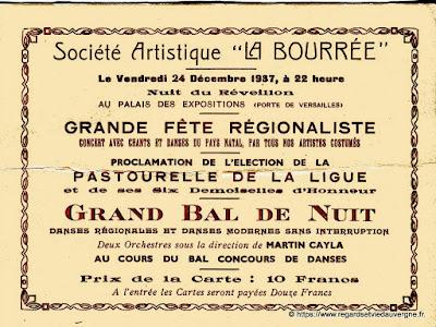 Réveillon La Bourrée 1937 à Paris.