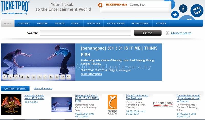 TicketPro Malaysia Website