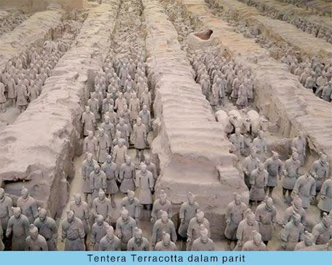 Tentera Terracotta dalam parit