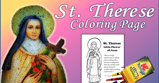 St. Therese Coloring Page - Perfect for Little Flowers