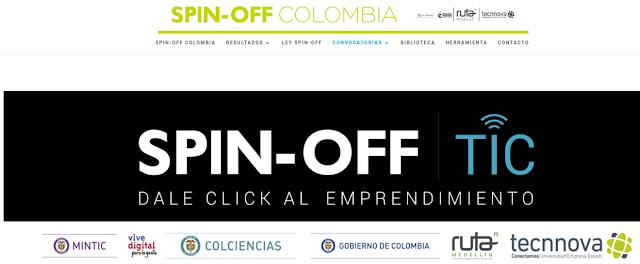 SPIN-OFF TIC  COLOMBIA DALE CLIK AL EMPRENDIMIENTO