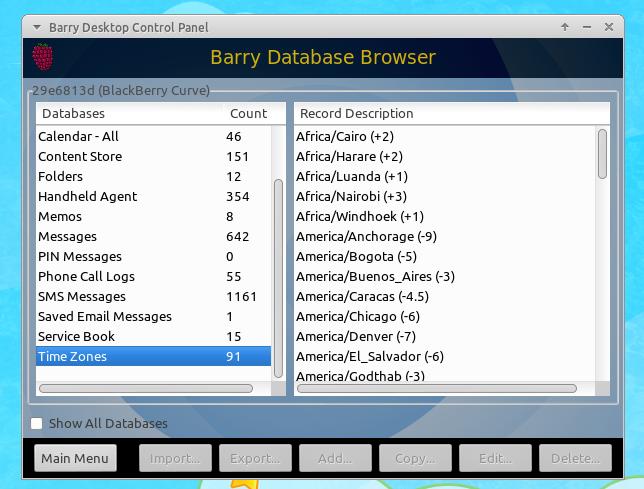 Barry Desktop: Yet Another BlackBerry Desktop Manager for