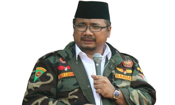 Ketua umum Pemuda Ansor, Yaqut Cholil Qoumas