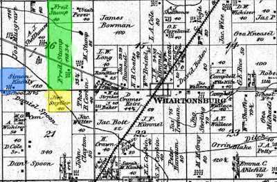 Climbing My Family Tree: Detail of 1879 Richland Wyandot  Ohio Land Ownership Map (Snyder, Stump, Kachley/Kachele)
