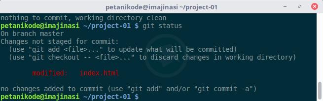 Git status revisi kedua