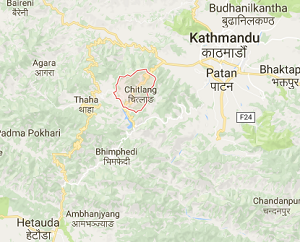 Chitlang_earthquake_epicenter_map