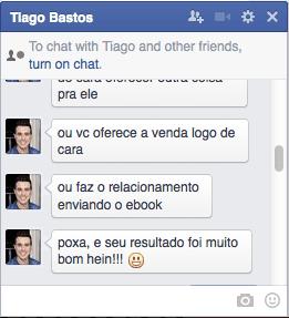 Facebook Tiago Bastos - o que é a maquina de vendas online