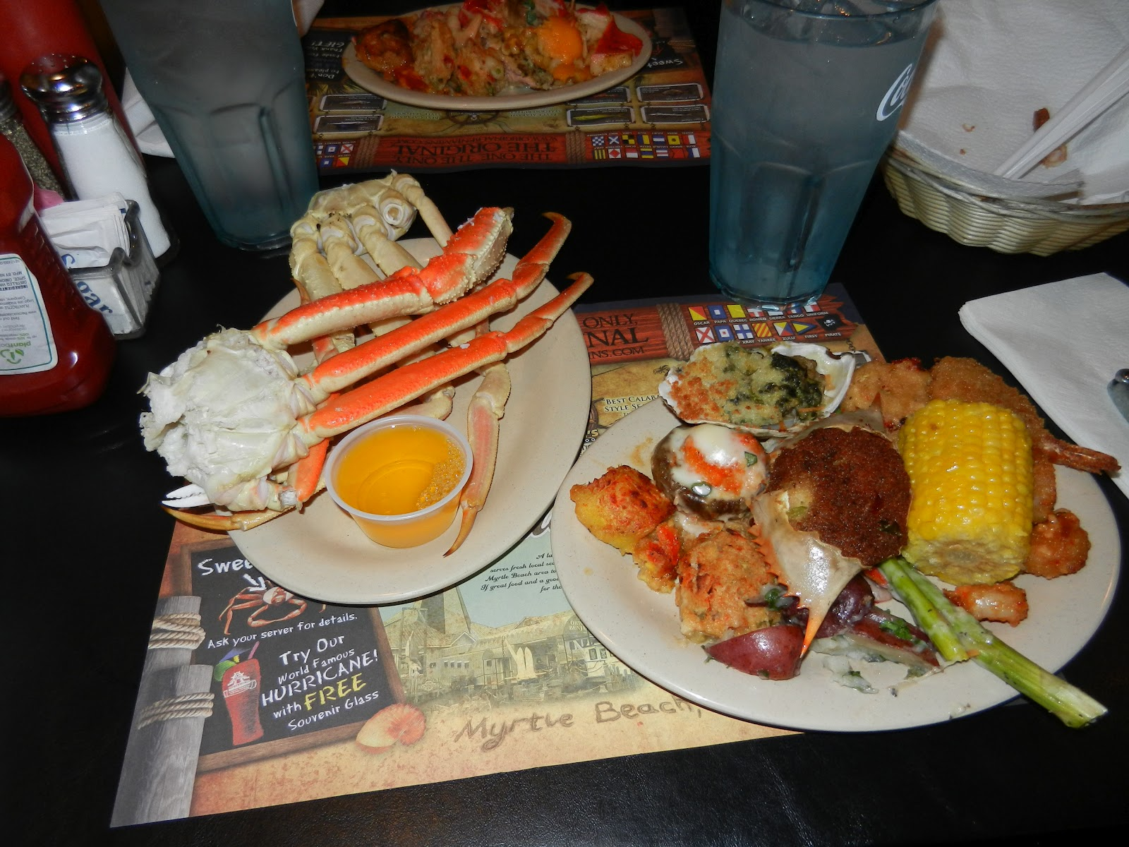 Crab Legs And A Delicious Plate Of Seafood