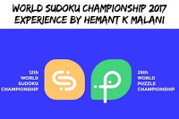 World Sudoku Championship 2017 Experience by Hemant Kr. Malani