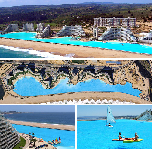 crystal lagoons corp builds world s largest outdoor swimming pool