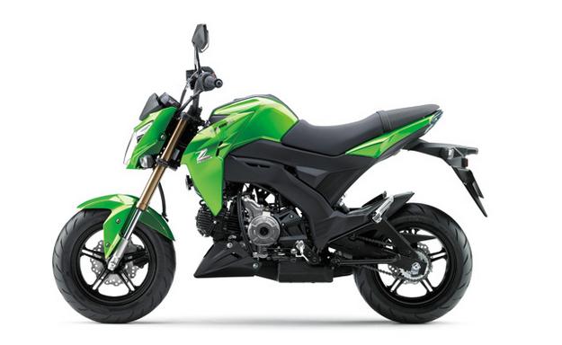 Kawasaki Z125 Pro, moge berdesain imut