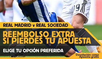 betfair reembolso 25 euros Real Madrid vs Real Sociedad 31 enero