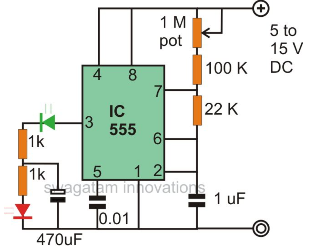Flashing Led Circuit Related Keywords Suggestions Blinking Circuitdiagramorg Make Interesting Flasher And Fader Circuits Using Ic 555