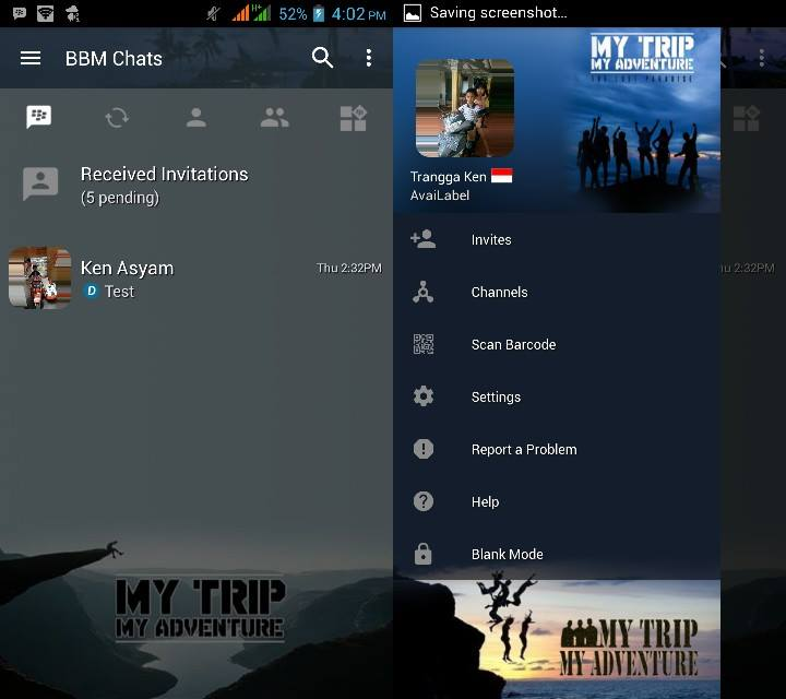 BBM MOD My Trip My Adventure v3.2.5.12 APK