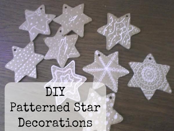 DIY Patterned Star Decorations {Tutorial}