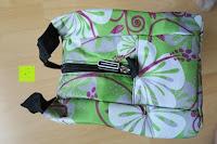Seite: Aosbos Wasserdichte Lunch Tasche Isolierte Thermo Picknicktasche für Lebensmitteltransport(Grün Blumen)