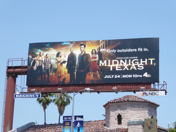 Midnight Texas TV series billboard