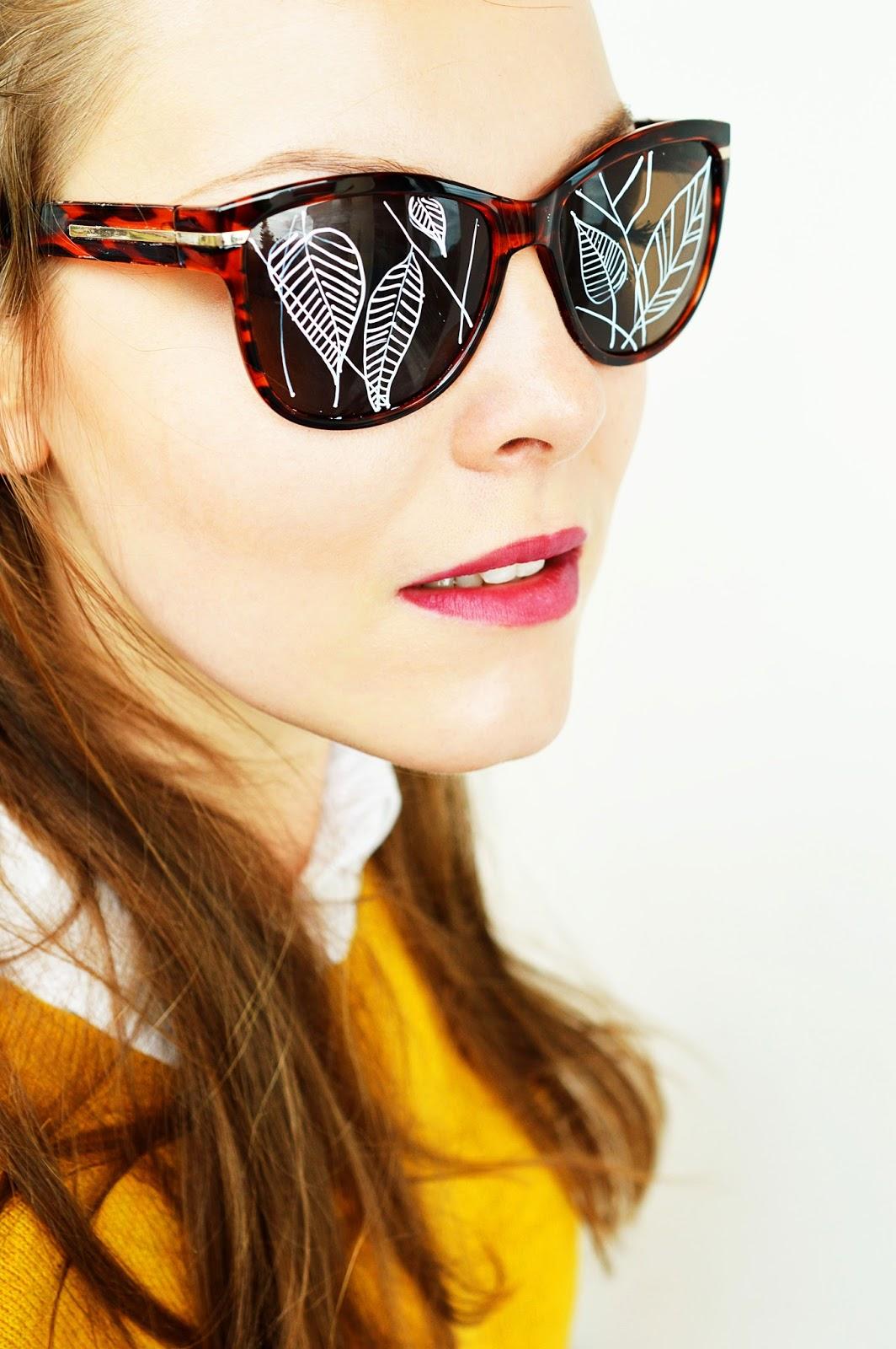 DIY Painted Sunglasses | Motte's Blog