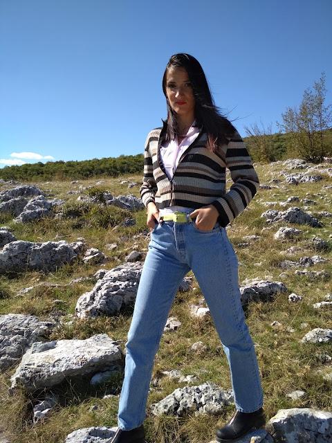 #planina #ležerno #stripedsweater #jeans #nature