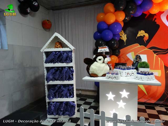 Decoração de festa infantil Halloween - Mesa decorativa provençal