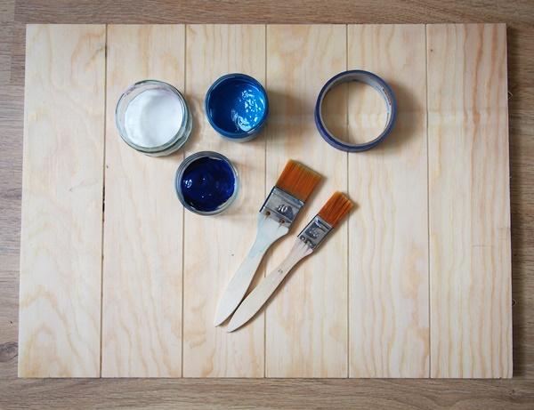DIY : panneau en bois géométrique