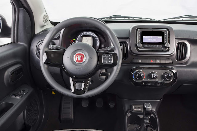 Novo Fiat Mobi Way On - painel