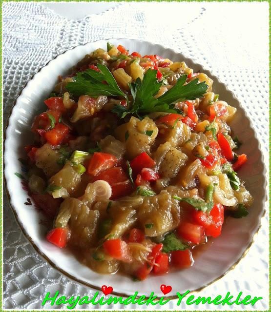 Patlıcan salatası,resimli Patlıcan salatası tarifi