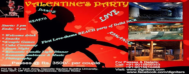 VALENTINE'S PARTY | AMR ADVENTURE MALL - Valentine's Day Party in Noida