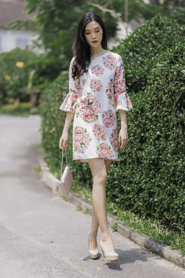 Hoa hậu Thùy Dung gợi ý chọn váy hoa cho nàng công sở - 6