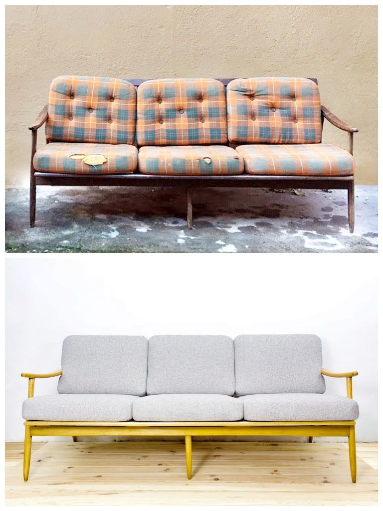Antes y después - Sofá Nórdico - Studio Alis