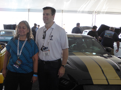 NASCAR Race Mom with Aaron Shelby In Front of The 2016 Shelby GT-H Mustang Concept/Prototype