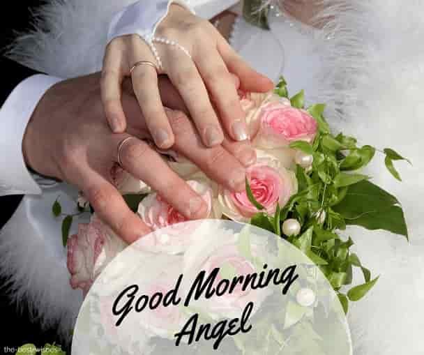 good morning angel romantic pic