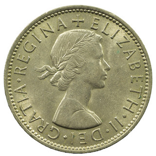 British Coins Two Shillings or Florin 1964 Queen Elizabeth II