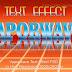 Vaporwave Text Effect PSD Vol.3