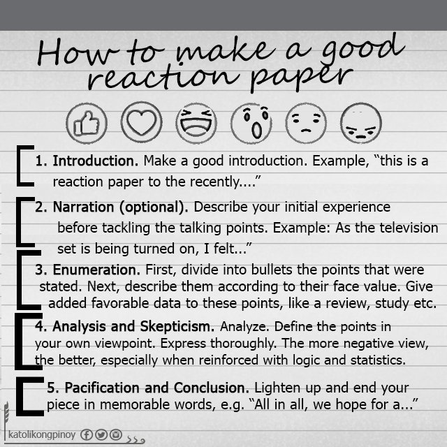 How Should Someone Start a Reaction Paper?