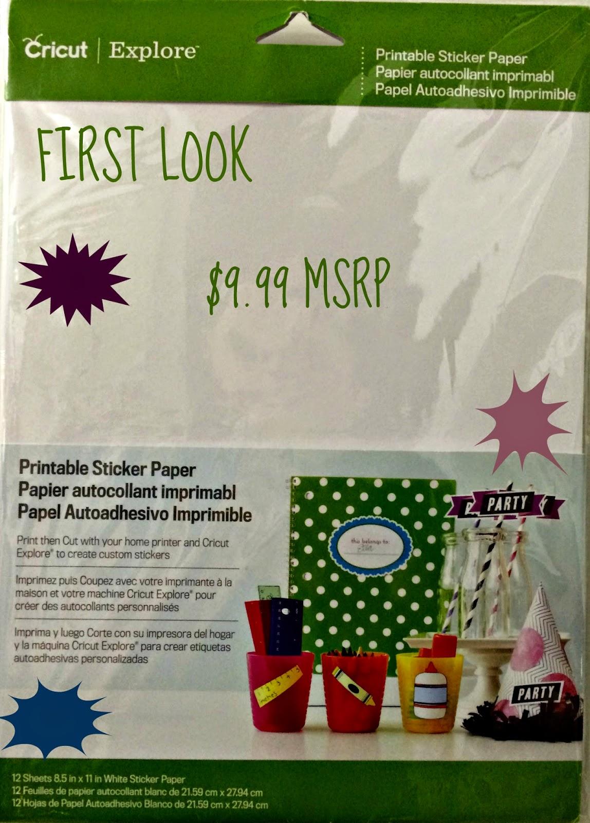 Epson Kitchen Printer Gas Ranges Cricut Print Then Cut - Printable Sticker Paper | Ken's ...