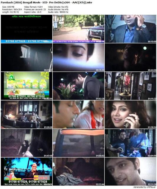 Porobash 2016 Bengali Movie PreDvDSc 700MB