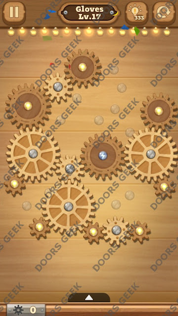 Fix it: Gear Puzzle [Gloves] Level 17 Solution, Cheats, Walkthrough for Android, iPhone, iPad and iPod