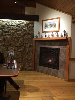 fireplace at the Watershed Cafe